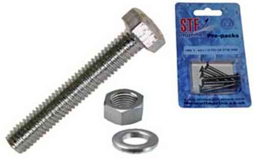 STF Hex Head Set Screw + Nut & Washer